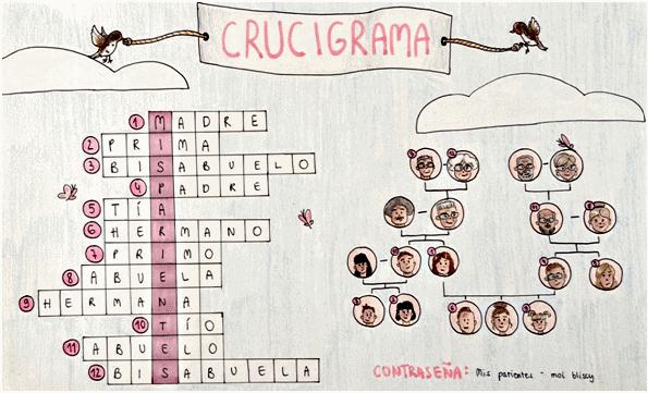 "Julia Wasilewska  (klasa 7a) – konkurs ""Crucigrama"""